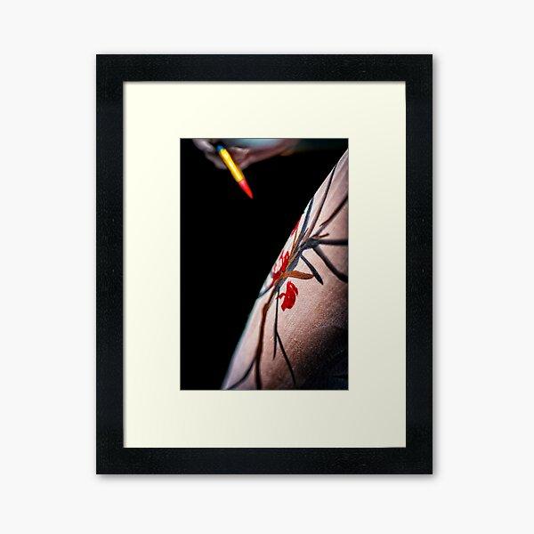 Body Canvas - Body Painting as Fine Art Framed Art Print