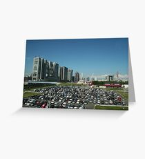 Near The TV Building in Tokyo, Japan Greeting Card