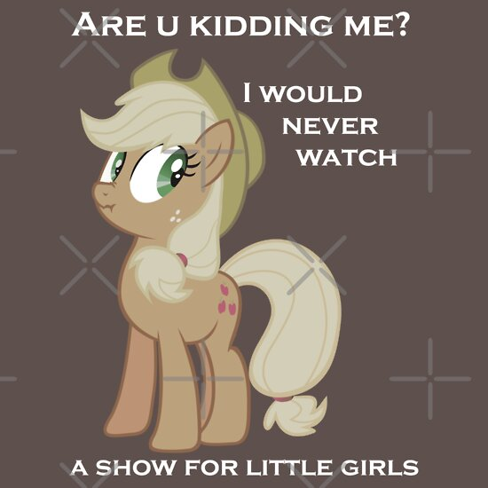 TShirtGifter presents: Applejack lies with Text
