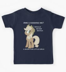 Applejack lies with Text Kids Clothes