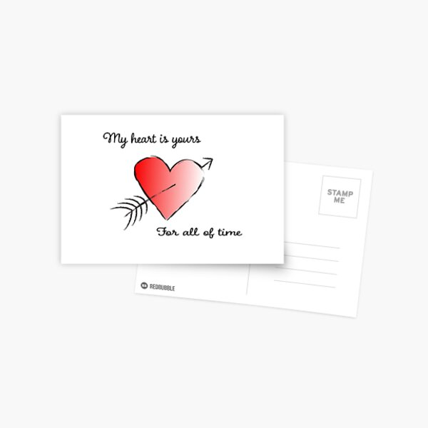 My Heart is Yours for All of Time Postcard