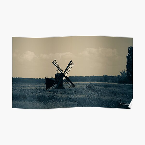 Old windmill in Holland  Poster