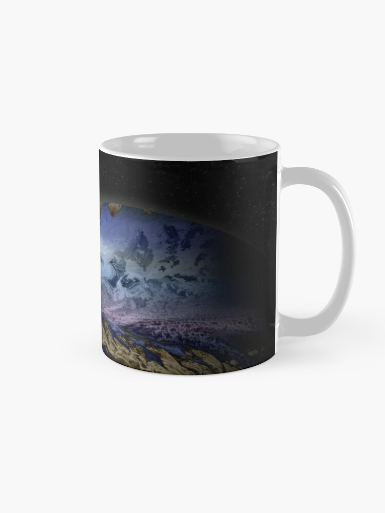 Alternate view of Planet Theta: Outer Space Art Mug
