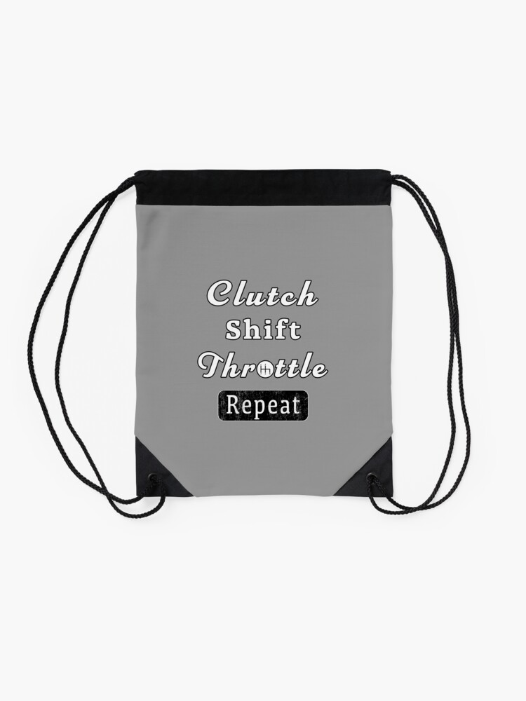 Alternate view of Clutch Shift Throttle Muscle Car Race Mechanic Men. Drawstring Bag