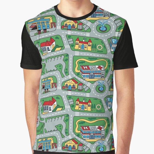 Car City Carpet Road Rug 90s Nostalgic Toy Graphic T-Shirt