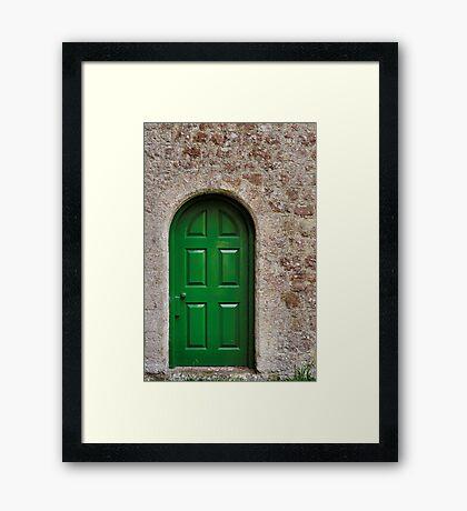 Green Door 2 Framed Print