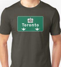 Toronto, Road Sign, Canada  T-Shirt
