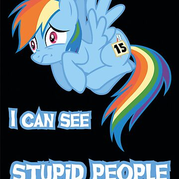 Stupid people Rainbow Dash by Kuzcorish