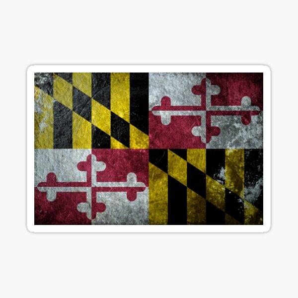 Maryland Grunge Sticker