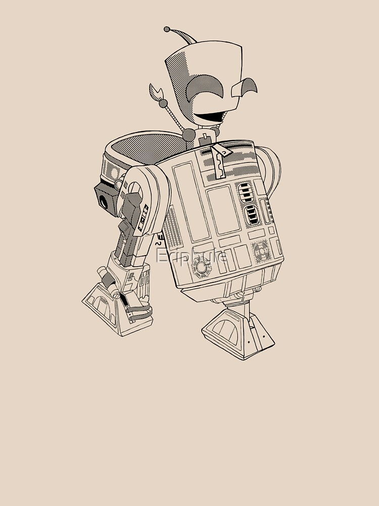 Two little robots - lineart by Eriphyle