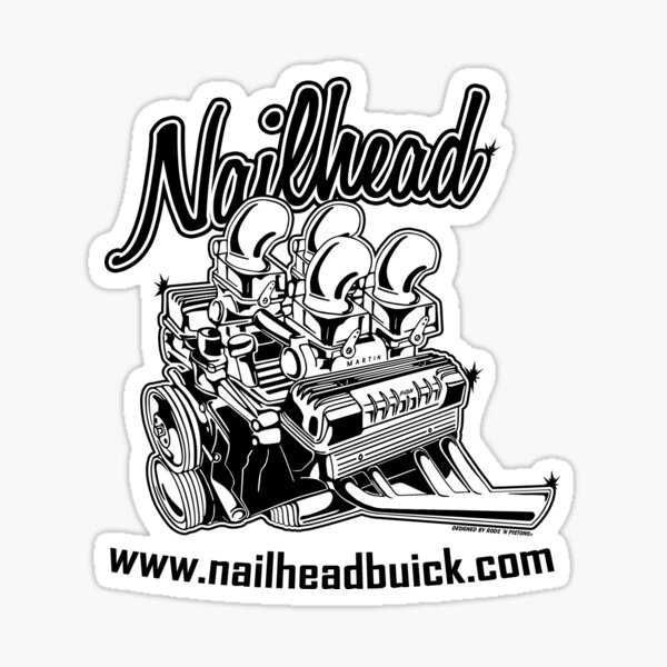 Buick Nailhead black print Sticker