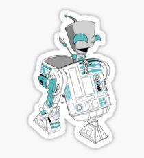 Two little robots - colour version Sticker