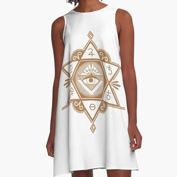 #Mystic #Symbols #Magic #Circle Occult symbols Esoteric | Etsy A-Line Dress