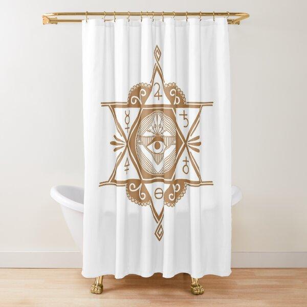 #Mystic #Symbols #Magic #Circle Occult symbols Esoteric | Etsy Shower Curtain