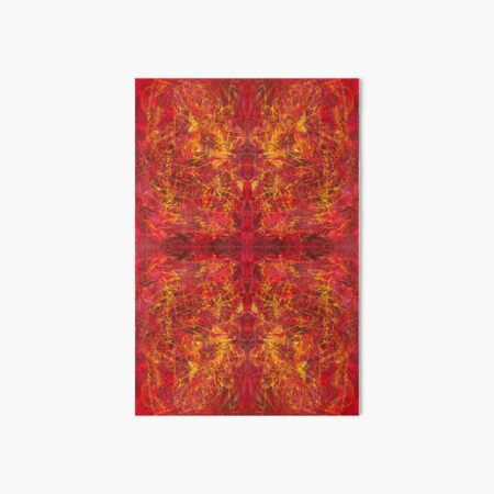 red color abstract pattern - Red For Feb - February Tapestries, red4feb Art Board Print