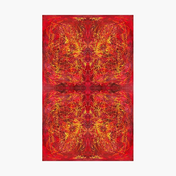 red color abstract pattern - Red For Feb - February Tapestries, red4feb Photographic Print
