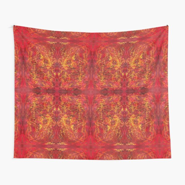 red color abstract pattern - Red For Feb - February Tapestries, red4feb Tapestry