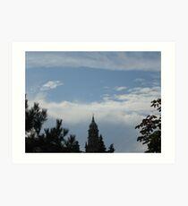 le nuvole...e il campanile della Cattedrale di Parma-Italy Art Print