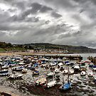 The Boats Lay Gently Sleeping in the Harbour by Clive