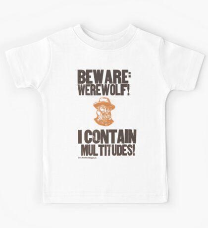 Beware Werewolf! Walt Whitman Kids Tee