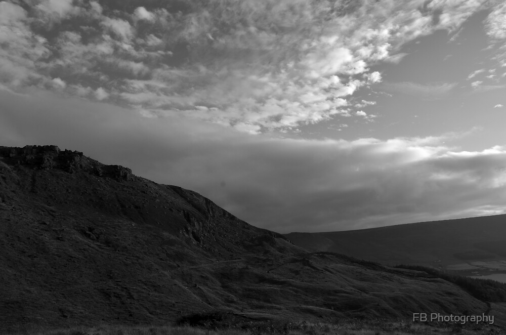 Rock and clouds vista - Peak District - United Kingdom by FB Photography