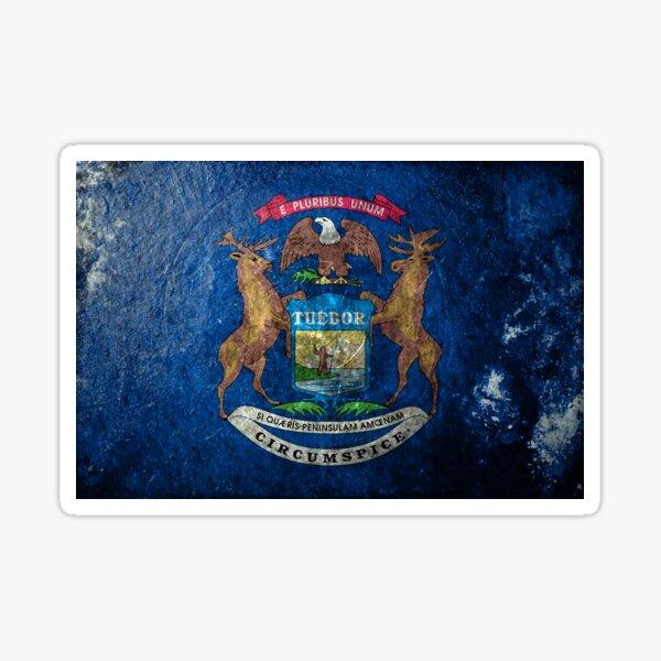 Michigan Grunge Sticker