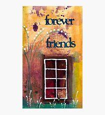Through The Windowpanes of Friendship Photographic Print