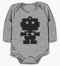 Robot - Simple Black One Piece - Long Sleeve