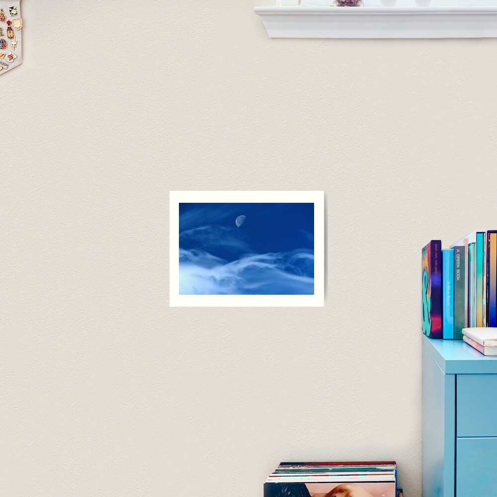 Moonship Flies Art Print
