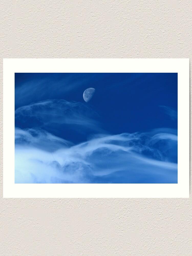 Alternate view of Moonship Flies Art Print
