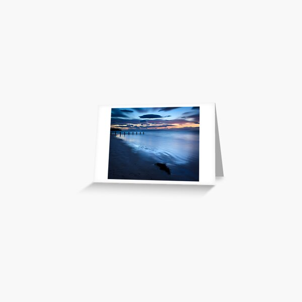 Moody Blues and Gloaming Light, Findhorn Greeting Card