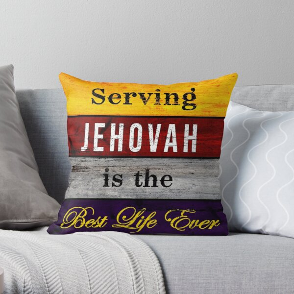 Serving Jehovah is the Best Life Ever Vintage Throw Pillow