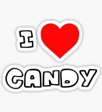 I Heart Candy Sticker