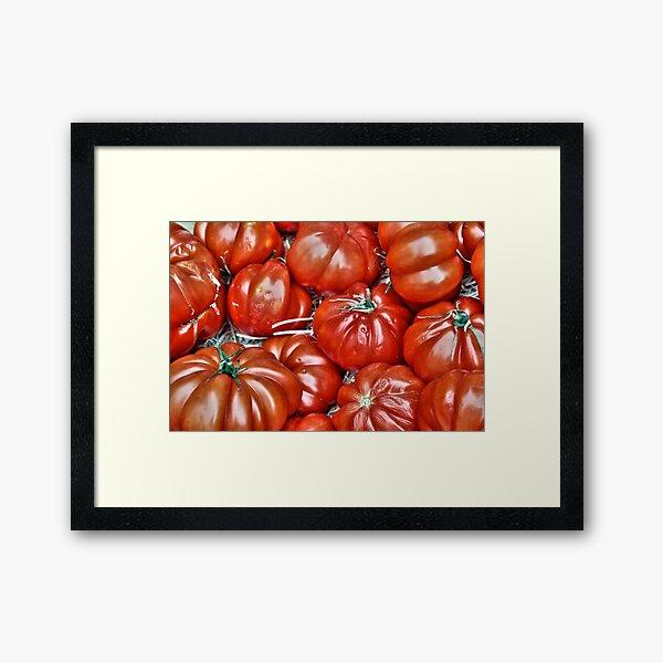 Big Red Tomatoes Framed Art Print
