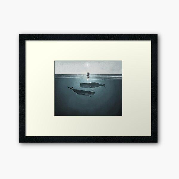 At sea. Framed Art Print