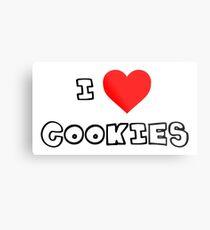 I Heart Cookies Metal Print