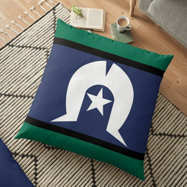 Torres Strait Islander Flag, Indigenous Peoples of Australia Floor Pillow