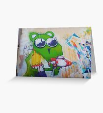 Green mouse tagger Greeting Card