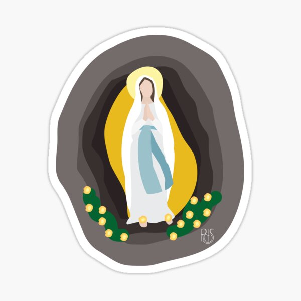 Our Lady of Lourdes Illustration Sticker