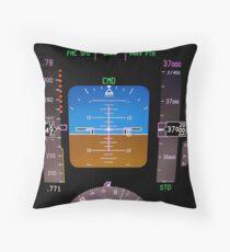 Technology: aircraft flight deck at 37000 ft. Throw Pillow