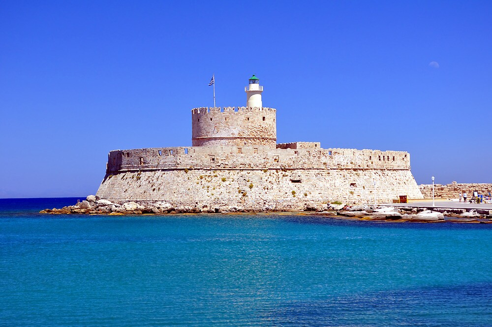 Fort Saint Nicholas, Rhodes, Greece. by FER737NG