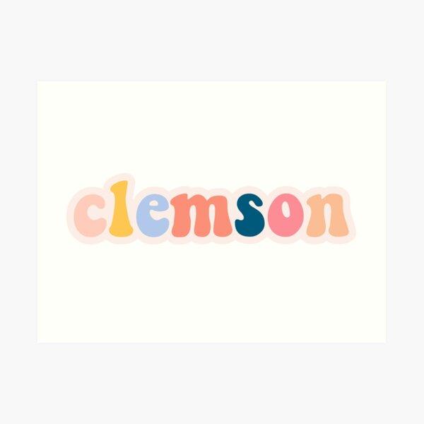 Clemson bubble letters Art Print