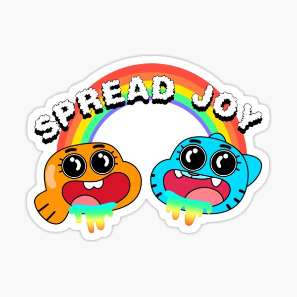 The Amazing World of Gumball Spread Joy White Sticker