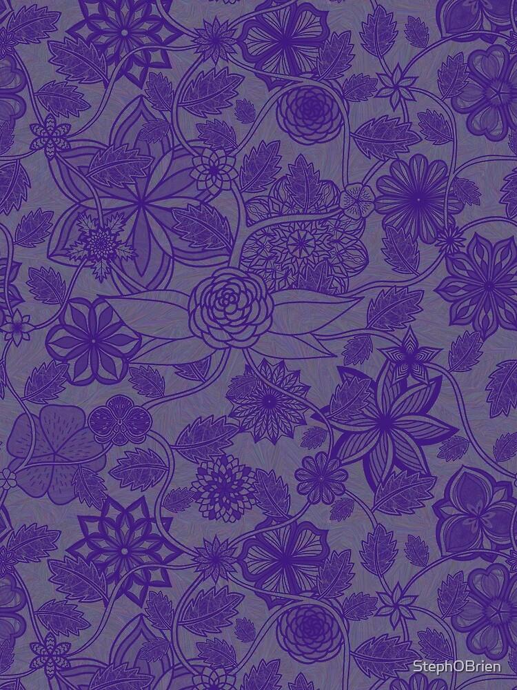 Flight Over Flowers of Fantasy - Violet by StephOBrien