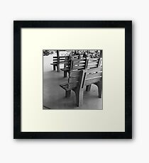 Benches Framed Print