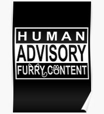 Advisory - FURRY CONTENT Poster