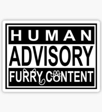Advisory - FURRY CONTENT Sticker