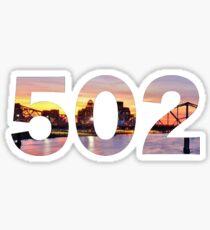Louisville 502 Sticker