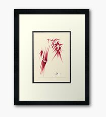 """Delicate"" - Original Huntington Gardens Plein Air Drawing Framed Print"