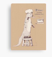 Creating delicious food - Otter-Burlywood Canvas Print